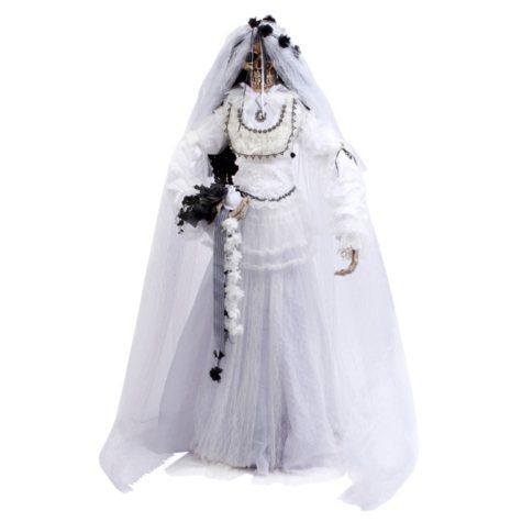 Fabric Bride Skeleton Figurine