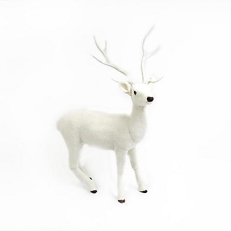 "66"" Fiberglass Standing Deer (White)"