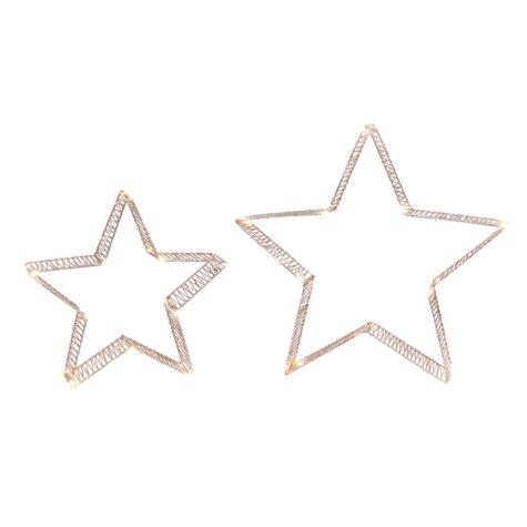Holiday Glitter Star Lights (Set of 2)
