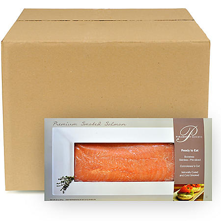 Paramount Reserve Premium Smoked Salmon, Bulk Wholesale Case (18.75 lbs.)