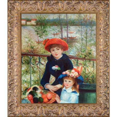 Pierre-Auguste Renoir Two Sisters (On the Terrace) Hand Painted Oil Reproduction