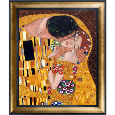 Gustav Klimt The Kiss Hand Painted Oil Reproduction