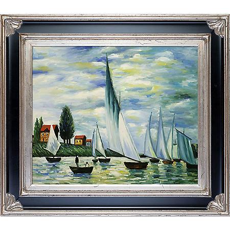 Claude Monet Regates at Argenteuil  Hand Painted Oil Reproduction
