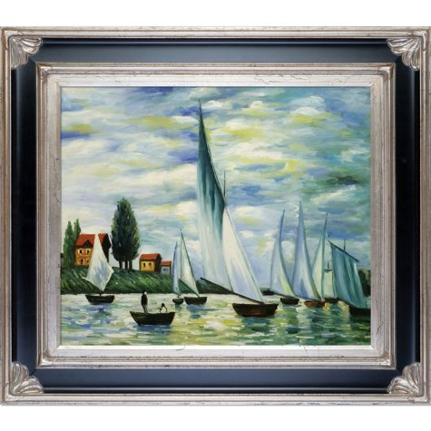 Claude Monet Regates at Argenteuil  Hand Painted Oil Reproduction
