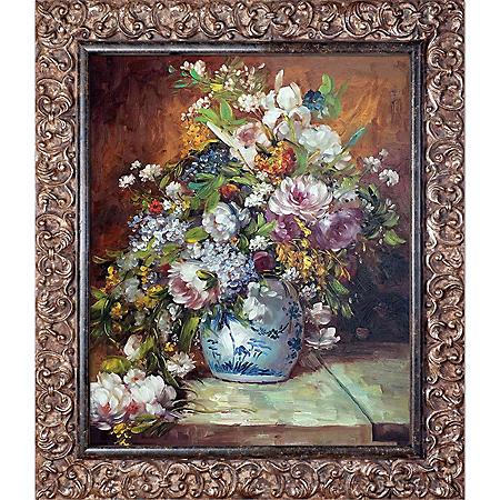 Pierre-Auguste Renoir Grande Vase di Fiori Hand Painted Oil Reproduction