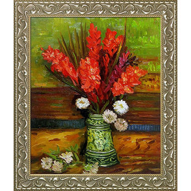 Vincent Van Gogh Vase with Red Gladioli Hand Painted Oil Reproduction