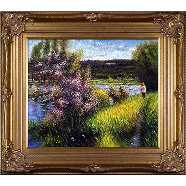 Pierre-Auguste Renoir The Seine at Chatou  Hand Painted Oil Reproduction