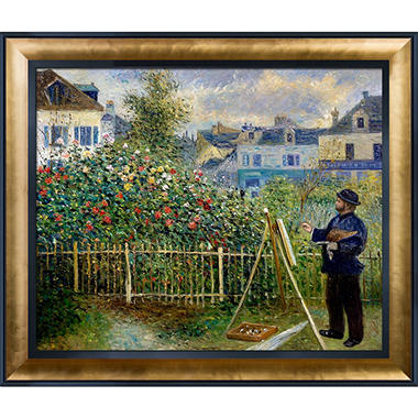 Pierre-Auguste Renoir Monet Painting in His Garden at Argenteuil Hand Painted Oil Reproduction