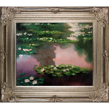 Claude Monet Water Lilies, Green Hand Painted Oil Reproduction