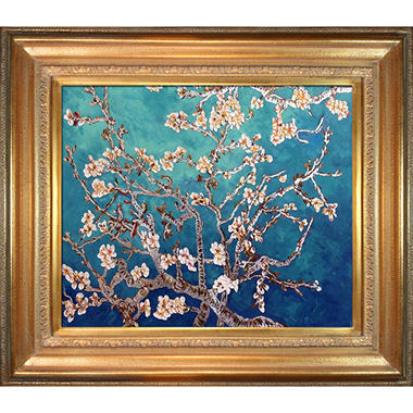 Vincent Van Gogh Branches of an Almond Tree (silver) Hand Painted Oil Reproduction