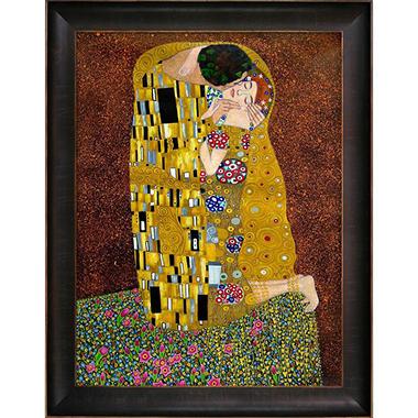 Hand Painted Oil Reproduction Of Gustav Klimt S The Kiss Full View