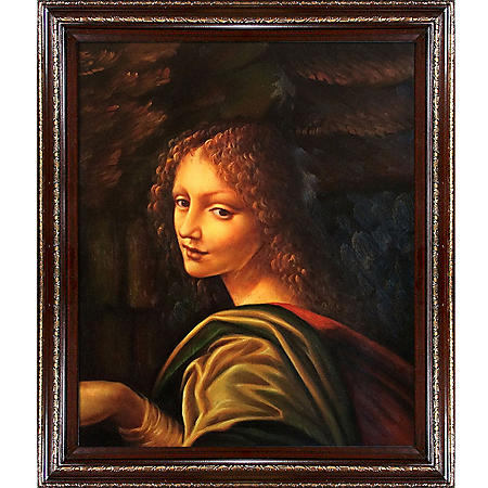Hand-painted Oil Reproduction of Leonardo Da Vinci's <i>The Virgin of the Rocks</i>.