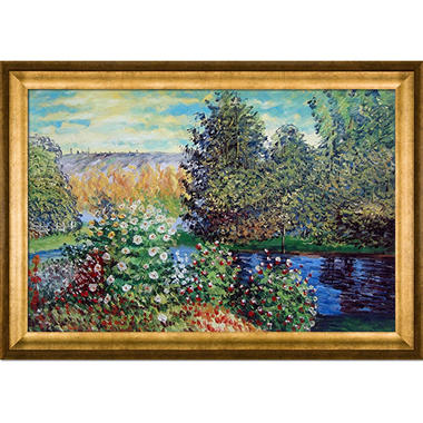 Hand-painted Oil Reproduction of Claude Monet's Corner of the Garden at Montgeron.