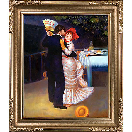 Hand-painted Oil Reproduction of Pierre Auguste Renoir's <i>Dance in the Country</i>.