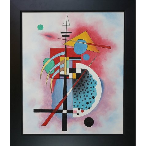 Hand-painted Oil Reproduction of Wassily Kandinsky's <i>Hommage a Grohmann</i>.