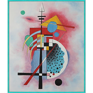 Hand-painted Oil Reproduction of Wassily Kandinsky's Hommage a Grohmann.