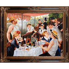 Hand-painted Oil Reproduction of Pierre Auguste Renoir's Luncheon of the Boating Party.
