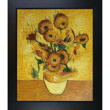 Hand Painted Oil Reproduction Of Vincent Van Goghs Vase With