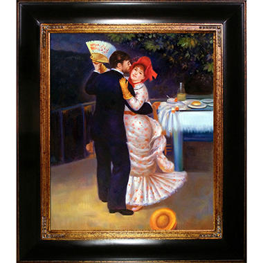 Hand-painted Oil Reproduction of Pierre Auguste Renoir's Dance in the Country.