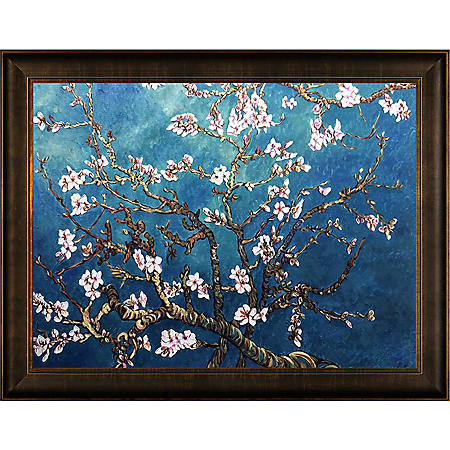 Hand-painted Oil Reproduction of Vincent Van Gogh's Branches of an Almond Tree in Blossom