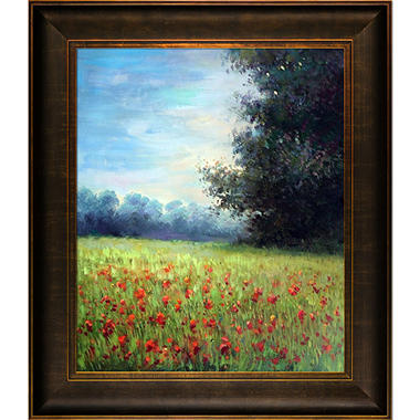Hand-painted Oil Reproduction of Claude Monet's Champ d'avoine (Oat Field).