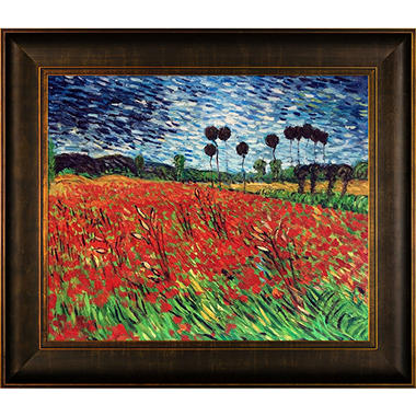 Hand-painted Oil Reproduction of Vincent Van Gogh's Field with Poppies.
