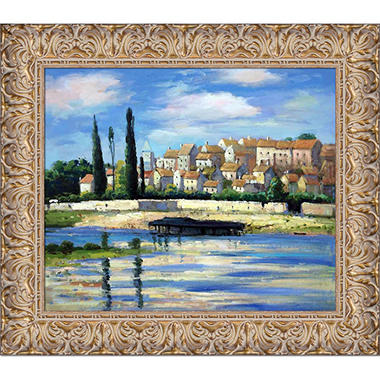 Hand-painted Oil Reproduction of Claude Monet's  Carrieres Saint Dennis.