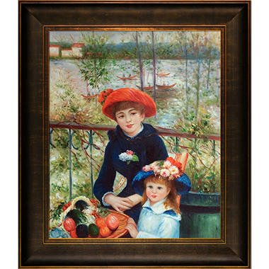 Hand-painted Oil Reproduction of Pierre Auguste Renoir's Two Sisters (On the Terrace), 1881.