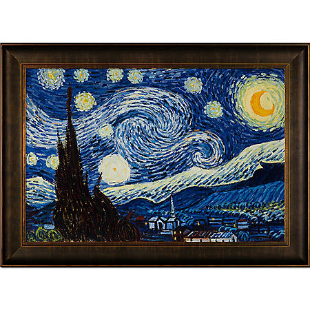 Hand-painted Oil Reproduction of Vincent Van Gogh's <i>Starry Night</i>..