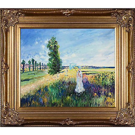 Hand-painted Oil Reproduction of Claude Monet's  La Promenade (Argenteuil).