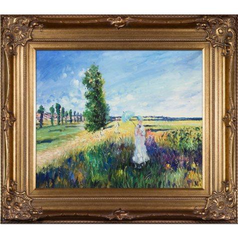 Hand-painted Oil Reproduction of Claude Monet's  La Promenade (Argenteuil).