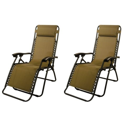 Zero Gravity Chair 2 pk. (Assorted Colors)