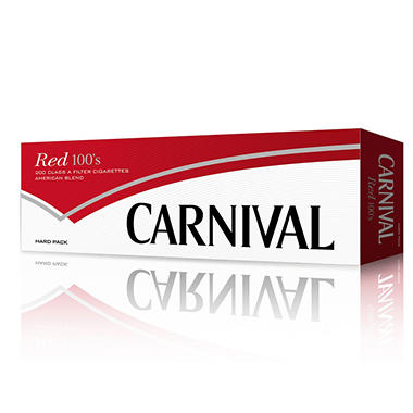 Carnival Red 100 Soft Pack 1 Carton