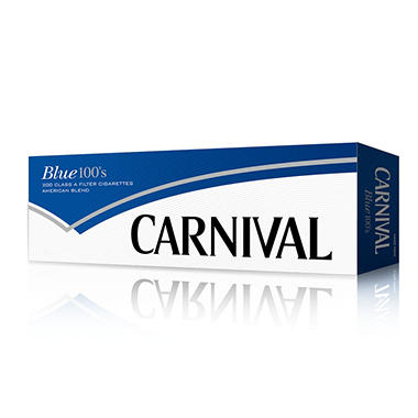 Carnival Blue 100 Soft Pack 1 Carton