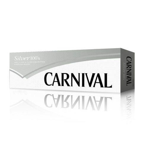 Carnival Silver 100 Soft Pack 1 Carton