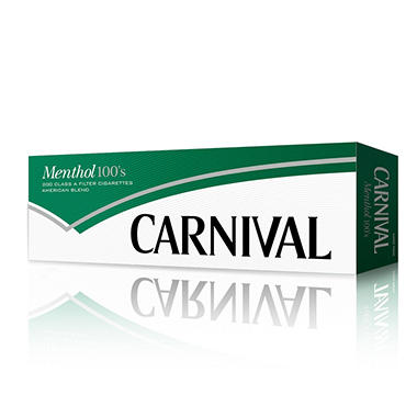 Carnival Green Menthol 100 Soft Pack 1 Carton