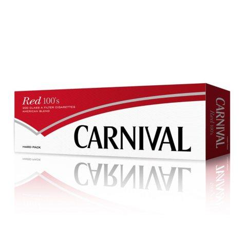 Carnival Red 100 Box 1 Carton