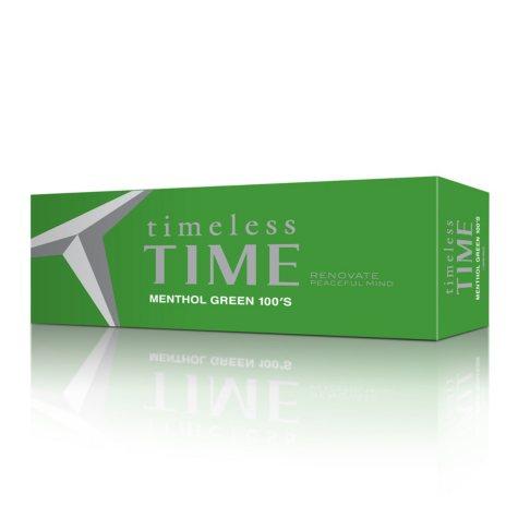 Timeless Time Menthol Green 100's Box (20 ct., 10 pk.)