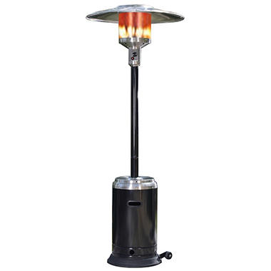 Fire Sense 46,000 BTU Commercial Stainless Steel & Black Patio Heater