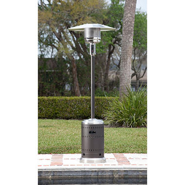 Superior Fire Sense Mocha And Stainless Steel Commercial Patio Heater