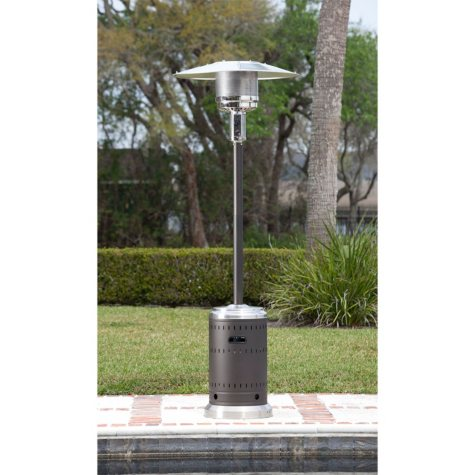 Fire Sense Mocha and Stainless Steel Commercial Patio Heater