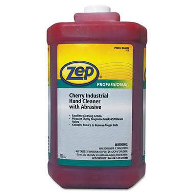 Zep Professional - Cherry Industrial Hand Cleaner with Abrasive, Cherry -  1gal Bottle