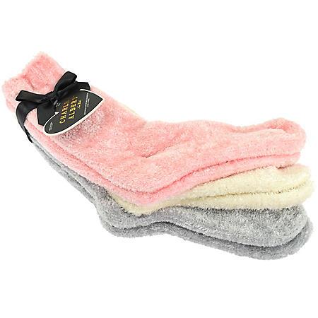 Charles Albert Plush 3 Pack Chenille Socks