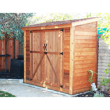 spacesaver red cedar wood double door garden shed