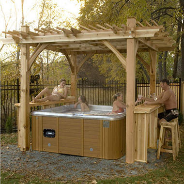 Spa Breeze Pergola with Bar - 11' x 9'