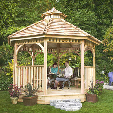 Bayside panelized gazebo 12 39 sam 39 s club for Fotos de kioscos de madera