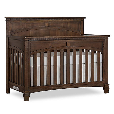 Evolur Santa Fe 5-in-1 Convertible Crib, Brown