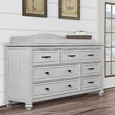 Evolur Madison 6-Drawer Double Dresser, Antique Gray Mist