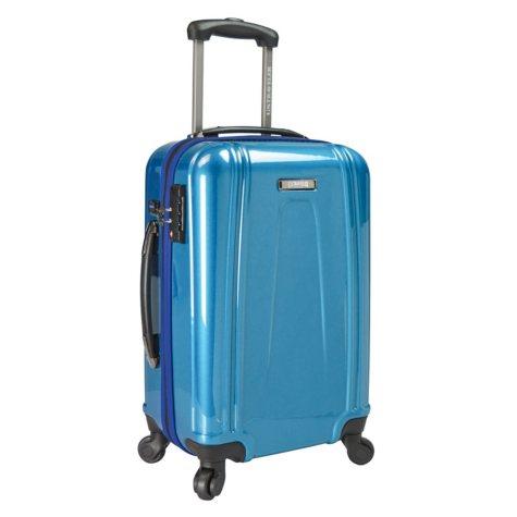 "U.S. Traveler 22"" USB Port EZ-Charge Carry-On Spinner"