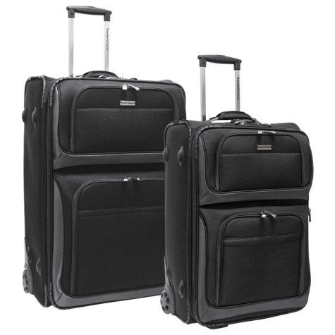 Traveler's Choice Conventional II 2-Piece Rugged Luggage Set